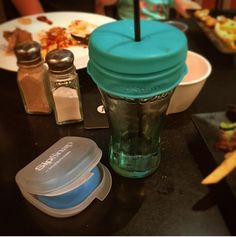 A plastic attachment that turns any cup or glass into a sippy cup.