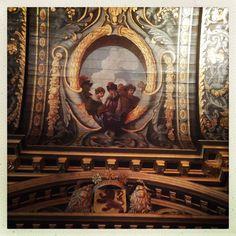 Eerste kamer detail plafond