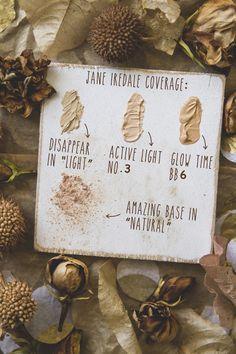 Jane Iredale makeup swatches | TLV Birdie Blog