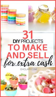Don't miss these easy crafts to make and sell if you want to start making extra cash from home. They're all cheap to make but look unbelieveably stunning! Also included DIY gifts to sell and winter crafts to sell. Diy Crafts To Sell On Etsy, Diy Projects To Make And Sell, Diy Gifts To Sell, Crafts To Make And Sell, New Crafts, Easy Diy Crafts, Diy Crafts Videos, Diy Crafts For Kids, Sell Diy