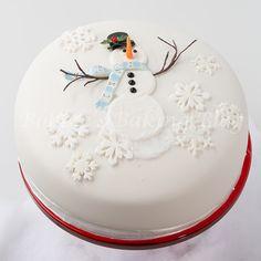 DIY Snowman Cake Tutorial