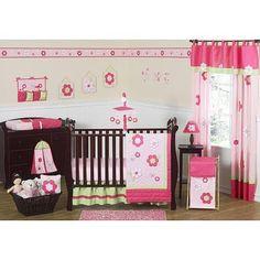 Sweet Jojo Designs Flower Pink and Green Collection 11-Piece Crib Bedding Set by Sweet Jojo Designs, http://www.amazon.com/dp/B00C9KCBDI/ref=cm_sw_r_pi_dp_mxbLrb1A307PE
