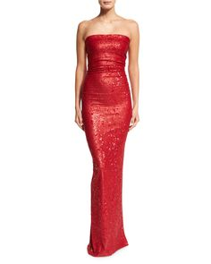 DONNA KARAN Strapless Sequined Evening Gown Lacquer $2750 (Compare elsewhere at $3000) - - - WE ARE LOCATED AT *THE TRUMP BUILDING* ON WALL ST. IN NYC - ORDER PICK UP OR FREE DELIVERY WORLDWIDE - - - SHOP OUR OFFICIAL WEBSITE:  annesOFnewyork.com