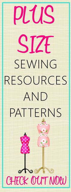 Plus size sewing resources and patterns on http:∕∕sewsomestuff.com. OMG perfect round up of ALL the things you EVER need for plus size sewing. Online classes, books AND patterns. CHECK OUT NOW