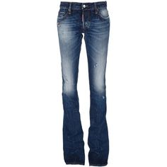 DSQUARED2 Distressed bootcut jeans ($505) ❤ liked on Polyvore