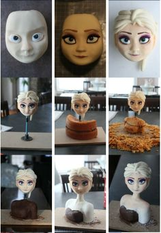 Where to Buy 2015 Halloween detail tutorial of frozen Elsa cake - chocolate, disney cake Cake Decorating Techniques, Cake Decorating Tutorials, Cake Structure, Elsa Cakes, Gravity Cake, Fondant Tutorial, Cake Topper Tutorial, Fondant Bow, Fondant Flowers