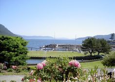 Orcas Island, #sanjuanislands vacation rental. This home is located across the street from #RosarioResort and offers beautiful views of the grounds and Cascade Bay. (You might even consider arriving by seaplane or boat!) #travel