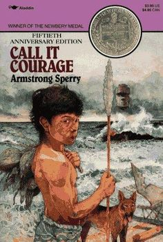 Call it Courage by Armstrong Sperry. This book won the 1941 Newbery Medal.