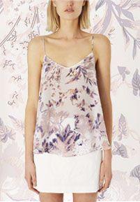 Topshop Boutique Silk Floral Cami