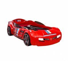 Cilek Kids Room Champion Racer Collection, BiTurbo Car Bed with Mattress, Red Kids Car Bed, Leggett And Platt, Adjustable Beds, Kid Beds, Kids Furniture, Bedroom Furniture, Baby Gear, Bed Frame, Race Cars