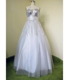 Bodice, Neckline, Bridal Gowns, Ball Gowns, Party Dress, Tulle, Formal Dresses, Silver, Fashion