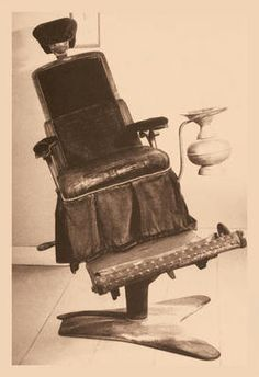 James Beall Morrison's Tilting Dental Chair...looks like a ride!