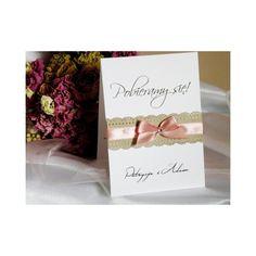 Delikatne i romantyczne zaproszenia ślubne Stella.