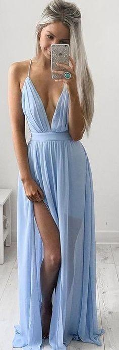 Baby Blue Maxi Dress                                                                             Source