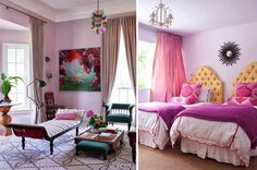 Alice Lane Home Blog| Ideas & Posts | Interior Designers | Alice Lane Home Collection~love this bedroom~such unique colors