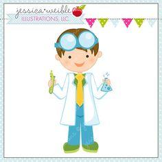 Resultado de imagen para girl scientist clipart