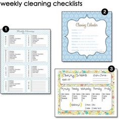 Tons of free planners for cleaning, menu planning, to do lists, and lots more.