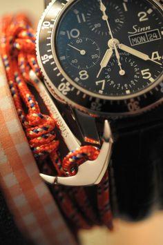 Virginstone nautical bracelet Sinn Chronograph