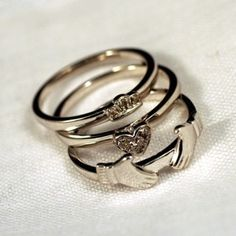 Stacking claddagh... really wanted a claddagh engagement ring.. maybe this can be a replacement??? LOL.  love the simplicity of this!!!