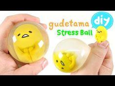 DIY Gudetama Stress Ball !! Easy Way~ ぐでたまストレスボールの作り方!!