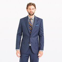 J.Crew - Ludlow suit jacket in Italian heathered wool - noted as a year-round suit (all-weather).