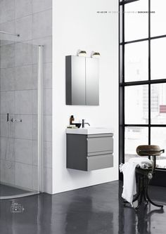 Dansani Zaro - Personal style with exclusive materials for your bathroom. See the beautiful Zaro bathroom furniture at Dansani and get inspiration for your bathroom. Grey Bathroom Floor, Light Grey Bathrooms, White Bathroom, Bathroom Flooring, Beautiful Bathrooms, Bathroom Furniture, Modern Bathroom, Attic Bathroom, Washbasin Design