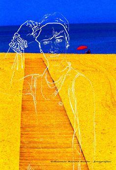 Últimos paseos de Manu, en la playa a todas horas cuando el verano empieza a despedirse.Otro momento de Manu paseando por La Caleta en CádizManu dando un paseo nocturno (La Caleta)Manu se compra una gorraManu en Sevilla ¿donde