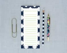Buffalo Check Personalized Tall Notepad Lined | Meredith Collie Paper
