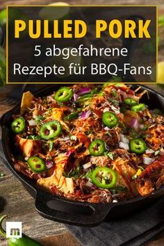 "Pulled Pork Rezepte: 5 abgefahrene Rezepte für BBQ-Fans Burgers, Waffles & Co. – Faded # recipes with Pulled Pork, the ""Holy Trinity of Barbeque""! Pork Rib Recipes, Pulled Pork Recipes, Hamburger Meat Recipes, Barbecue Recipes, Grilling Recipes, Crockpot Recipes, Burger Recipes, Bbq Meat, Bbq Pork"