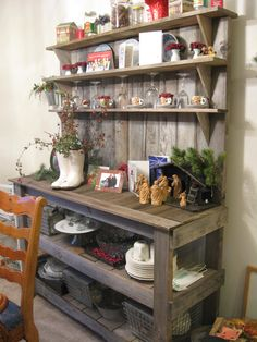 Large Size: Rustic Hutch