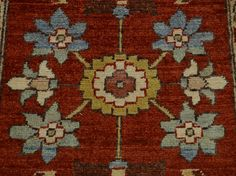 2' x 3' Hand Knotted Rust Red 100 Percent Wool Peshawar Oriental Rug