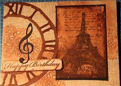 Jettescraftcorner: Paris Vintage BirthdayUsed Materials: - Inspirati... Vintage Birthday, Tim Holtz, Scrapbook Paper, Happy Birthday, Paris, Blog, Inspiration, Happy Brithday, Biblical Inspiration