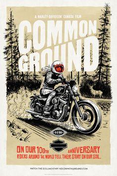 Poster 3 for HD Common Ground - By Adi Gilbert / Andrea Romanelli / Zulu Alpha Kilo Motorcycle Art, Bike Art, David Mann Art, Harley Davidson Art, Bike Poster, Graphic Design Posters, Poster Designs, Biker T Shirts, Easy Rider