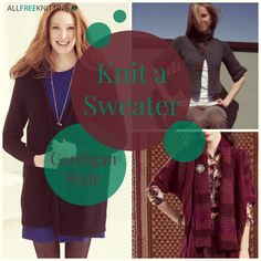 Knit a Sweater Cardigan Style: 11 Easy Knitting Patterns
