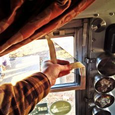 velcro window screens for bus windows, DIY, bus conversion, camping, glamping, tiny house