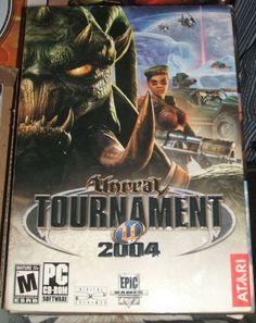 Atari Unreal Tournament 2004 6 Disc PC CD-ROM Complete FPS Game Small Box