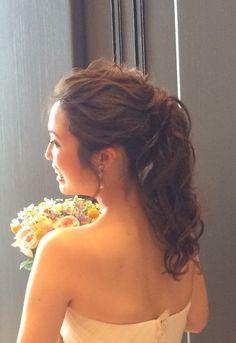 wedding hair ポニーテール 花嫁ヘアメイク