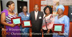 Winners of the First Edition of LAPO Outstanding Women Leadership Award. Get nominated or nominate a woman today. Visit http://lapo-ngo.org/lapo-outstanding-women-leadership-award-0