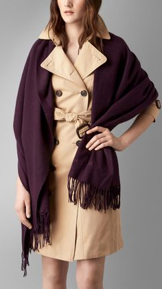 Embroidered Cashmere Stole | Burberry