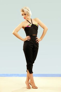 Vintage 1950s inspired capris made to vintage by OuterLimitz, £40.00