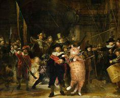 Imagine você apreciar famosas obras de arte e acontecer o inesperado? Seu gatinho de estimação interagindo nessas pinturas, em poses bem engraçadinhas. Foi