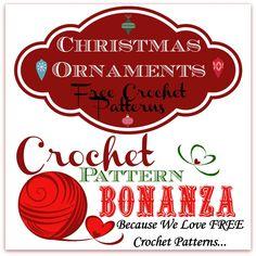 Christmas Ornaments ~ FREE Crochet Patterns: http://crochetpatternbonanza.com/category/ornaments/