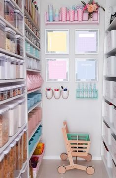 Adelaide woman's beautifully organised pantry.  More images in story