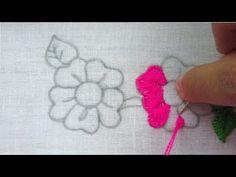 Hand embroidery nakshi kantha border line design 4 Hand Embroidery Videos, Hand Embroidery Stitches, Silk Ribbon Embroidery, Hand Embroidery Designs, Embroidery Kits, Embroidery Techniques, Cross Stitch Embroidery, Lazy Daisy Stitch, Line Design