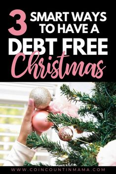 This step by step guide outlines how to have a debt-free Christmas. During the holiday season, we are tempted to spend money. Learn how to scale back and have a debt free holiday. Set a budget, be creative and make your own diy decorations. Keep money in your wallet and create memories with your family #Christmas #debt #spending #holidays