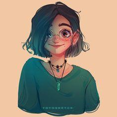 Ideas For Drawing Girl Sketches Character Design Ide. Cartoon Kunst, Anime Kunst, Anime Art, Cute Art Styles, Cartoon Art Styles, Dark Portrait, Self Portrait Drawing, Portrait Art, Portrait Cartoon