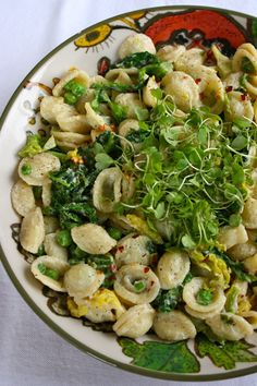 Orecchiette with Cabbage, Peas & Lemon Cashew... | Vegenista