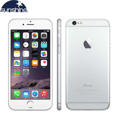 "Unlocked Original Apple iPhone 6 Mobile Phone 4.7"" 8.0 MP Camera Dual Core 16/64/128GB ROM GSM WCDMA Used Phone #Affiliate"