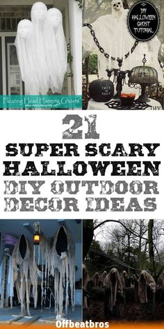 These 21 Spooky awesome DIY Halloween Outdoor Decorations are inherently CREATIVE to make your house the talk of the town! The best thimgs is it's so Cheap and Easy to DIY these Outdoor Halloween Decorations. Halloween 2020, Fall Halloween, Halloween Crafts, Halloween Party, Halloween Costumes, Halloween Nails, Halloween College, Halloween Office, Halloween Makeup