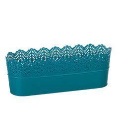 Love this Aqua Metal Garden Container on #zulily! #zulilyfinds